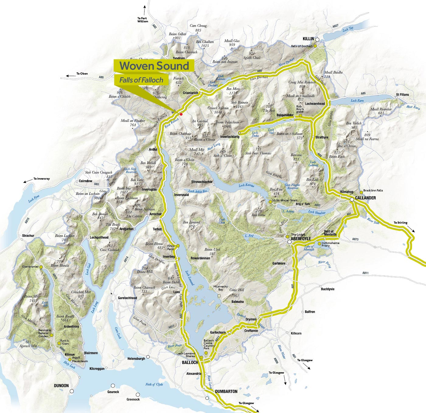 Click to view full size Woven Sound Scenic Route Map